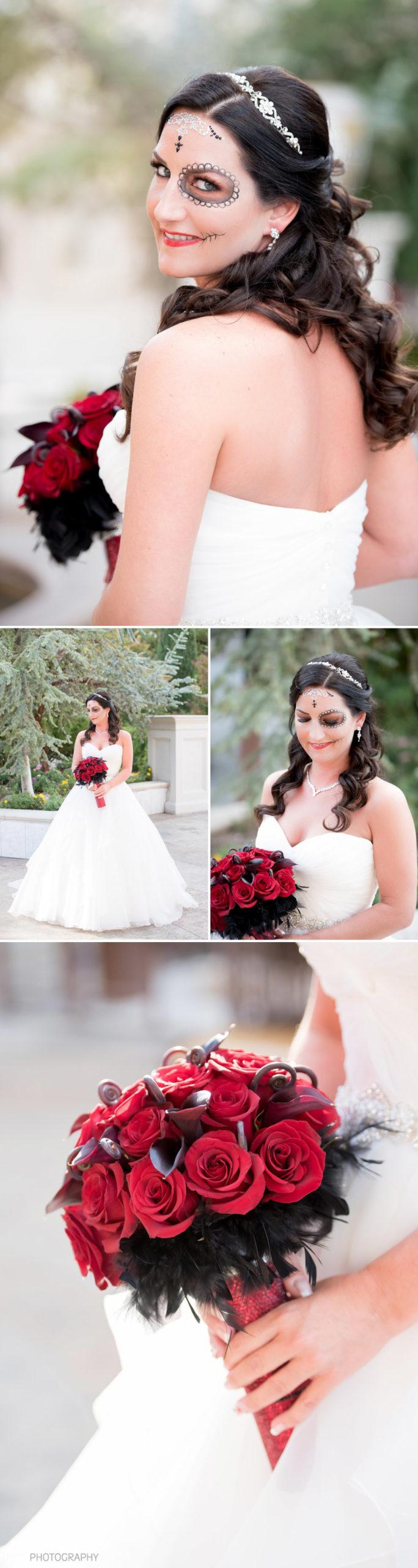 Dia De Los Muertos - Day of the Dead Sugar Skull Wedding   KMH Photography