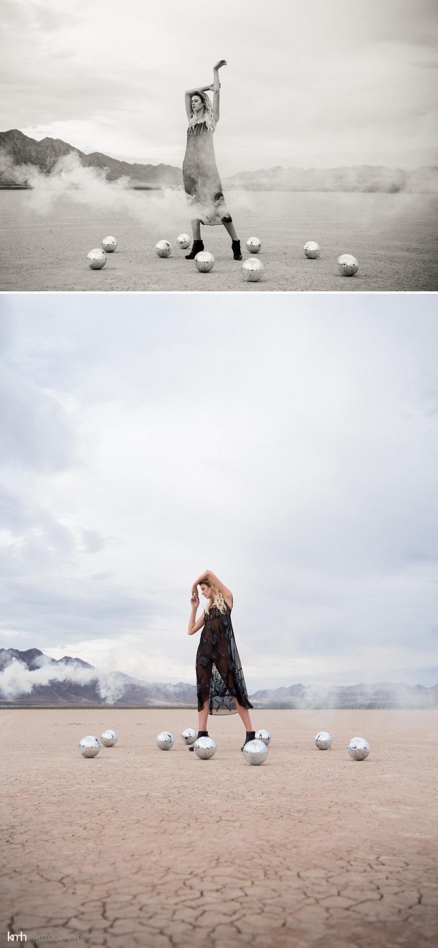 Metallic Desert Fashion Photoshoot | KMH Photography | Las Vegas Portrait Photographer