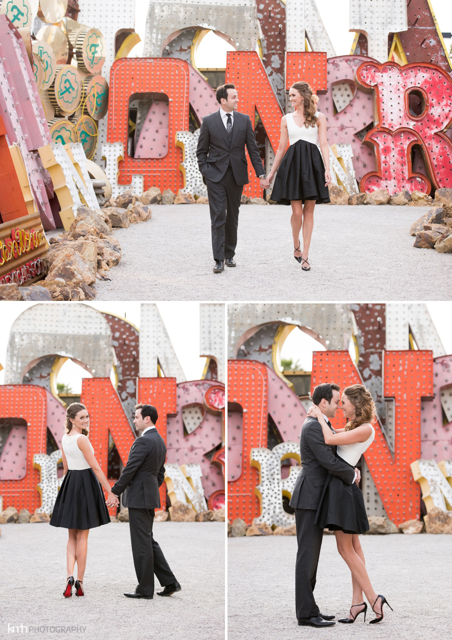 Neon Museum Engagement Session | KMH Photography | Las Vegas Wedding Photographer
