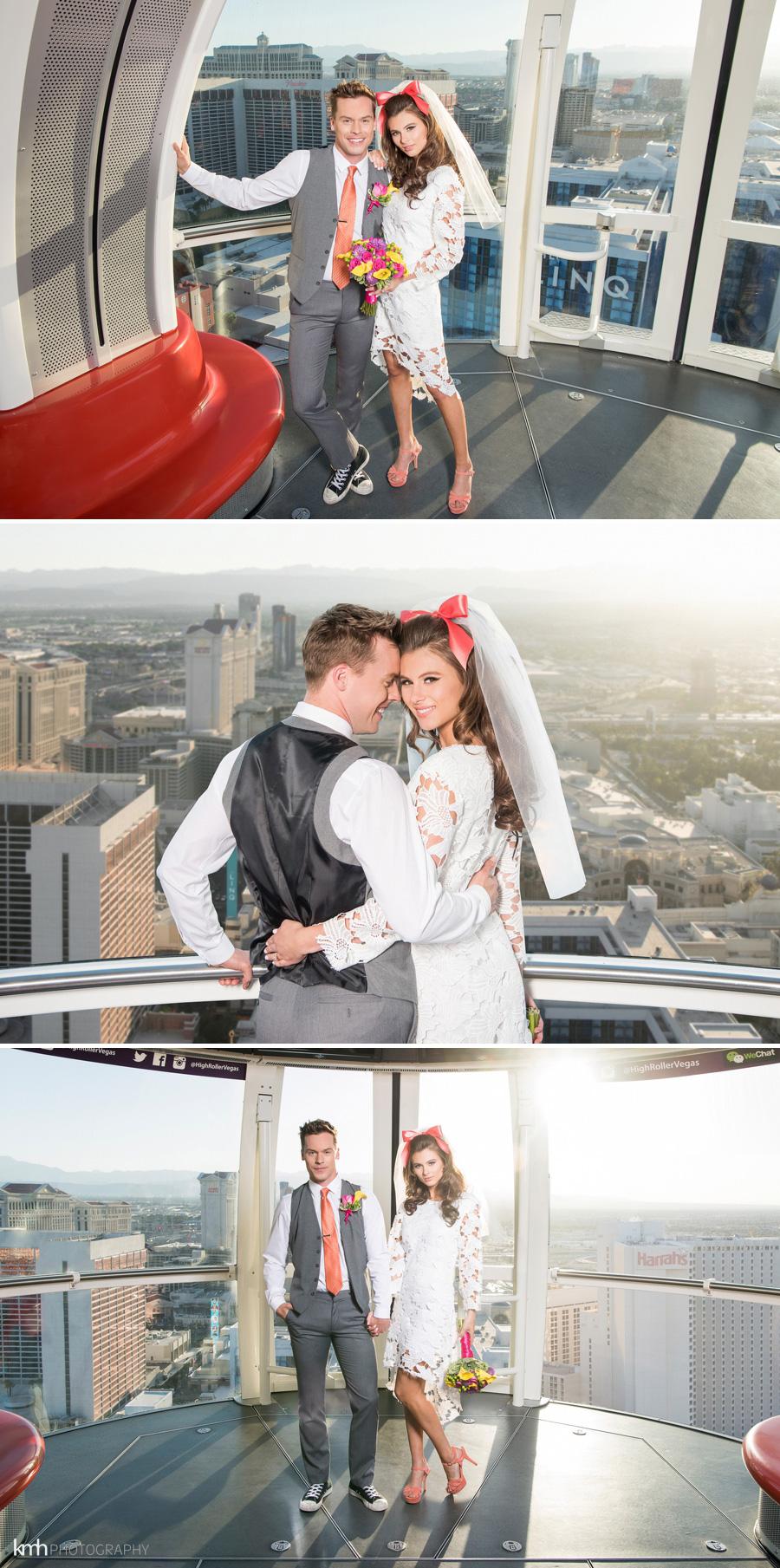 High Roller Wedding at LINQ Las Vegas | KMH Photography