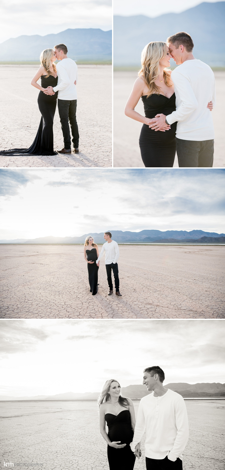 Las Vegas Dry Lake Bed Maternity Session | KMH Photography | Las Vegas Portrait Photographer