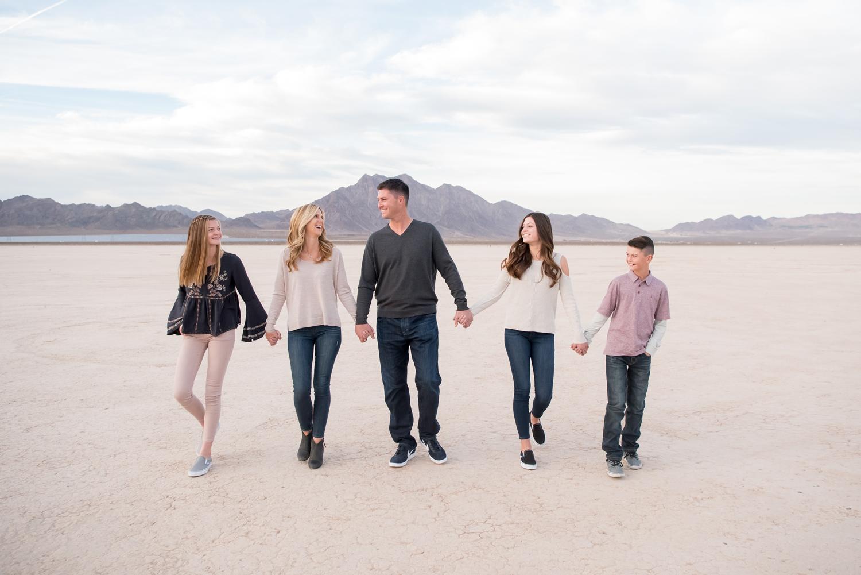 Dry Lake Bed Family Portraits | Kristen Marie Weddings + Portraits, Las Vegas family photographer