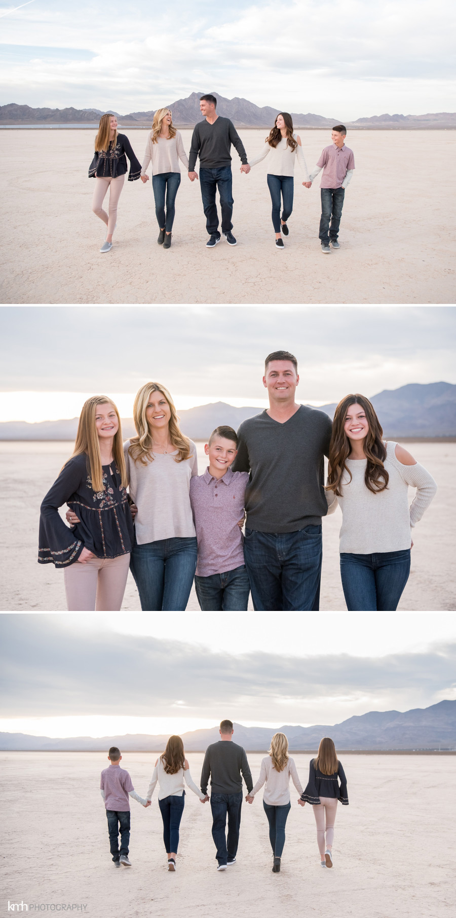 Las Vegas Dry Lake Bed Family Portraits | KMH Photography, Las Vegas Family Photographer