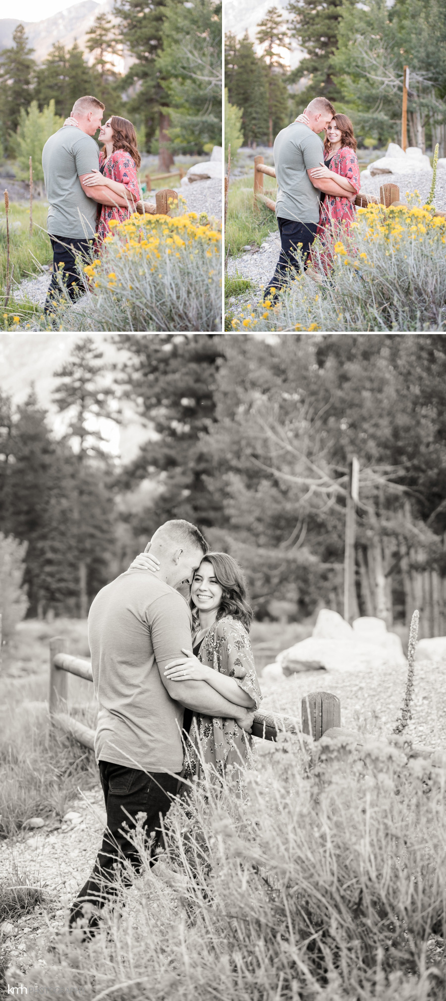 Las Vegas First Responders Mountain Engagement Session | KMH Photography, Las Vegas Engagement Photographer