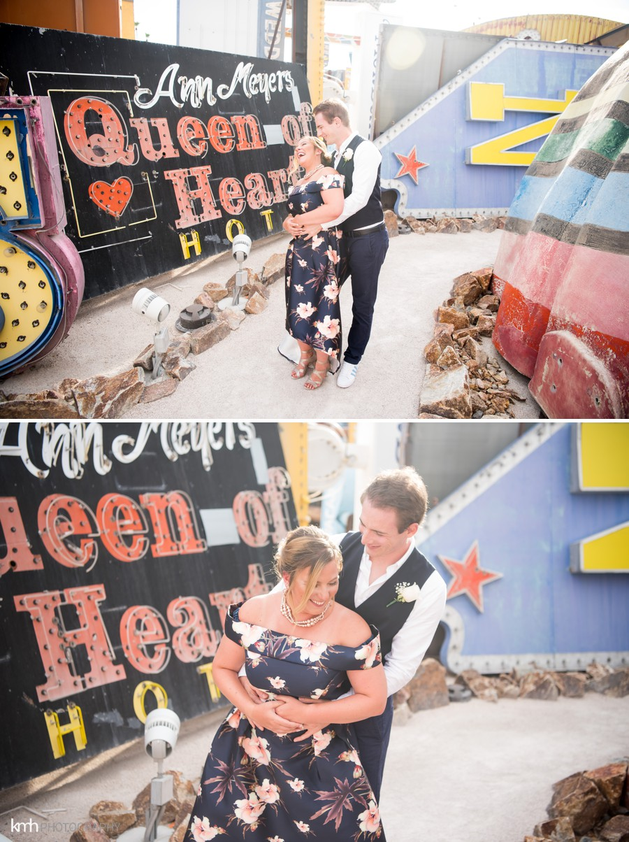 Neon Museum Couple's Anniversary Portraits | KMH Photography, Las Vegas Wedding Photographer