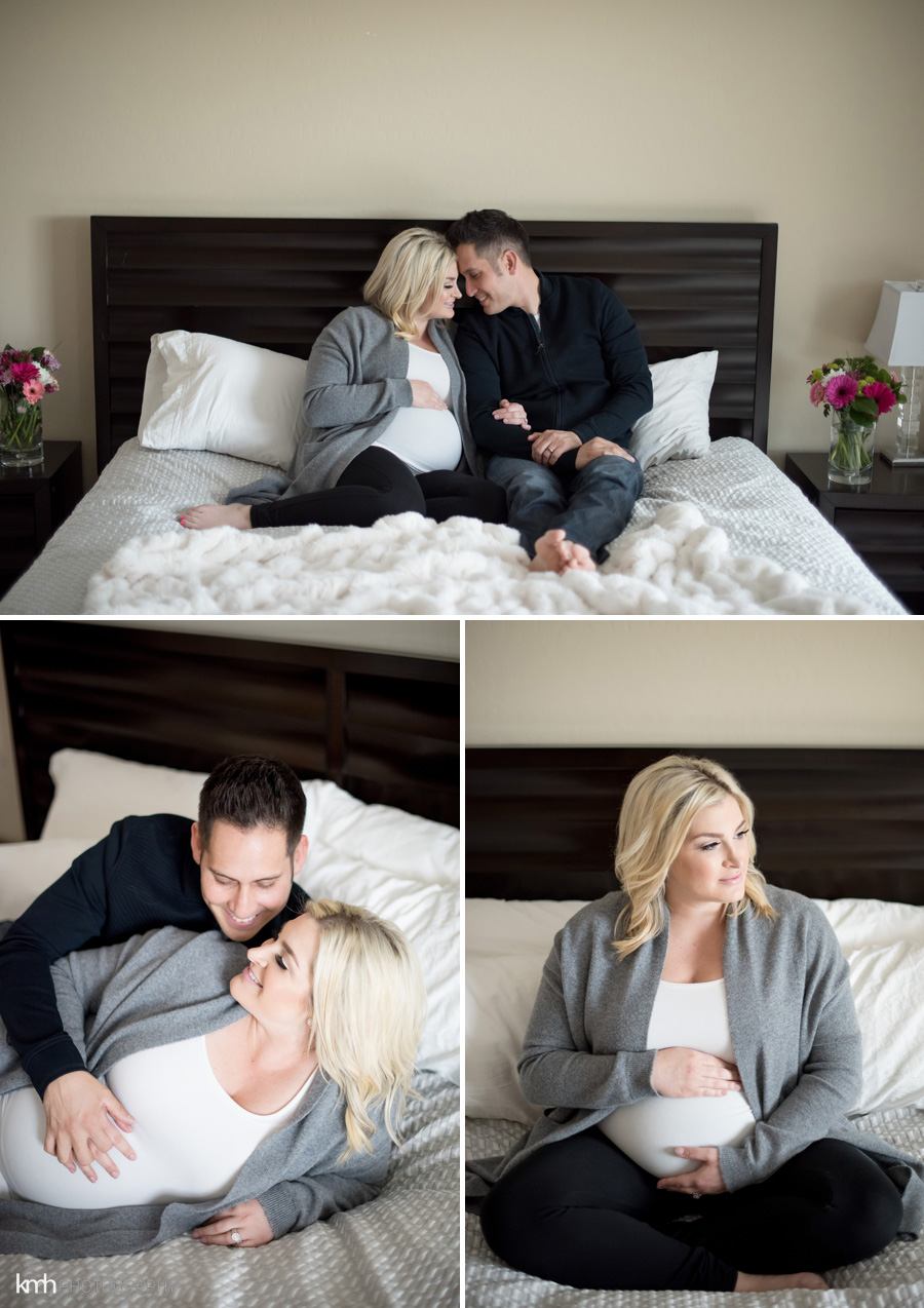 Las Vegas Maternity Photoshoot In Home | KMH Photography