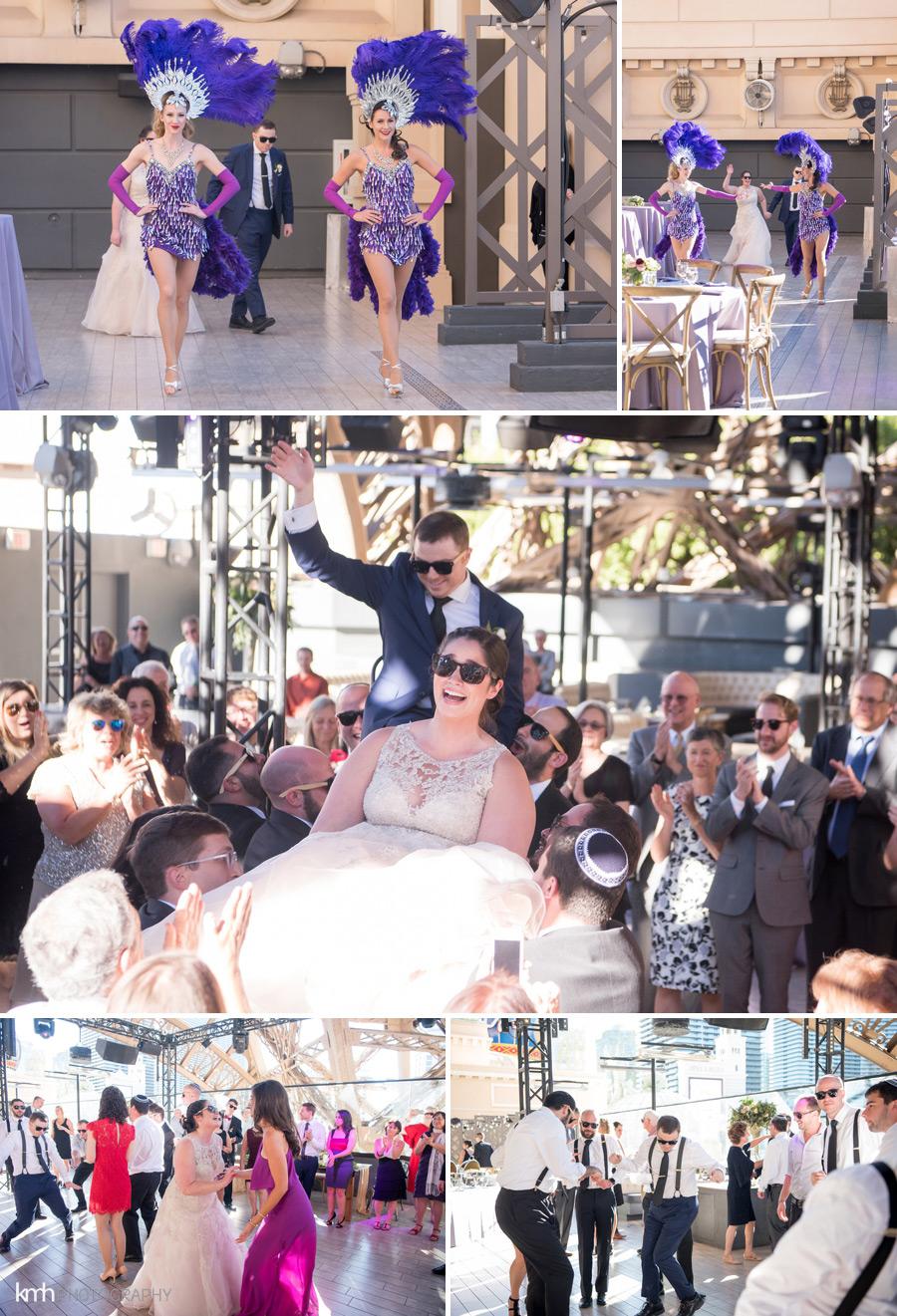 Elegant Rooftop Wedding at Chateau Nightclub at Paris Las Vegas | KMH Photography, Las Vegas Wedding Photographer