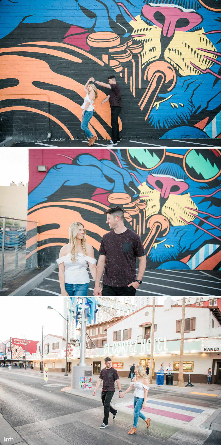 Downtown Las Vegas Engagement Session | KMH Photography, Las Vegas Wedding Photographer