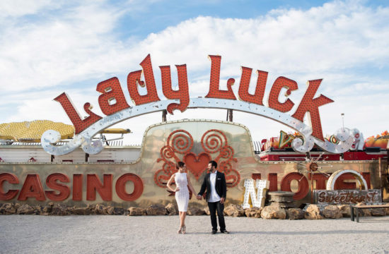 Neon Museum engagement Session | Kristen Marie Weddings + Portraits, Las Vegas wedding photographer