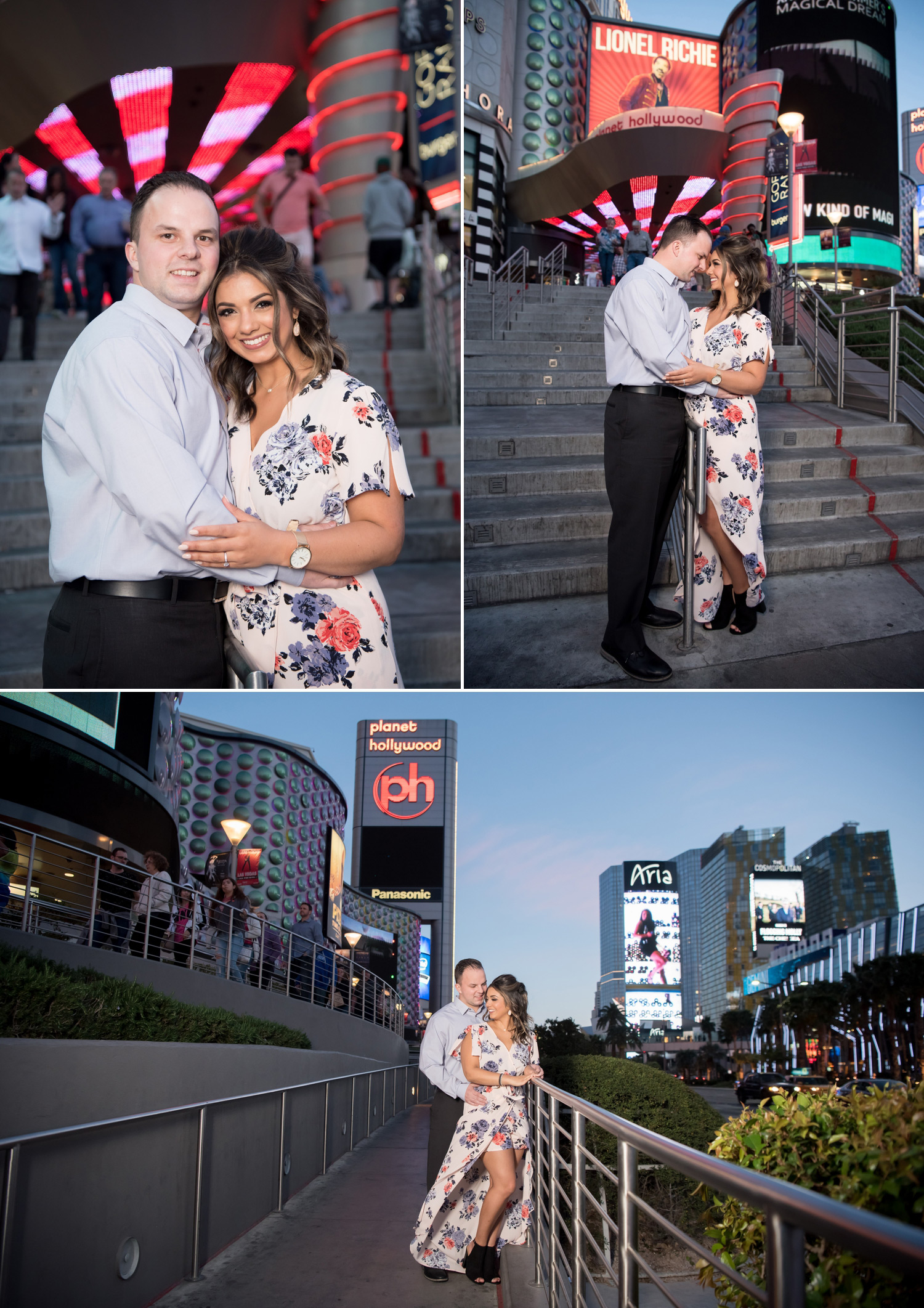 Las Vegas Strip Engagement Session | Kristen Marie Weddings + Portraits | Location Available for Full-Day Wedding Clients