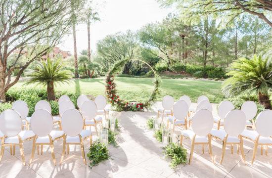 Festive Sunny Winter Wedding Inspiration | JW Marriott Las Vegas Wedding | Kristen Marie Weddings + Portraits