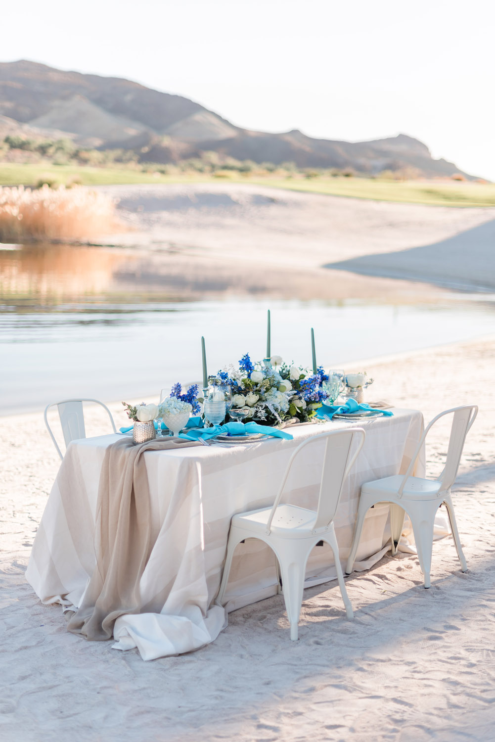 Classic Blue, Coastal Wedding Inspiration at Reflection Bay Golf Club | Kristen Marie Weddings + Portraits, Las Vegas Wedding Photographer