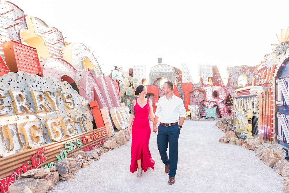Neon Museum Elopement | Kristen Marie Weddings + Portraits | Las Vegas Wedding Photographer