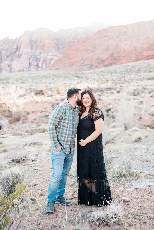 Las Vegas Desert Maternity Session | Kristen Marie Weddings + Portraits, Las Vegas Wedding Photographer