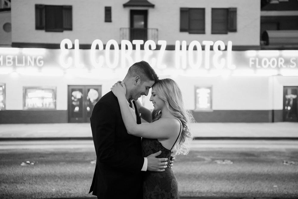 Downtown Las Vegas Engagement Session | Kristen Marie Weddings + Portraits | Las Vegas Wedding Photographer