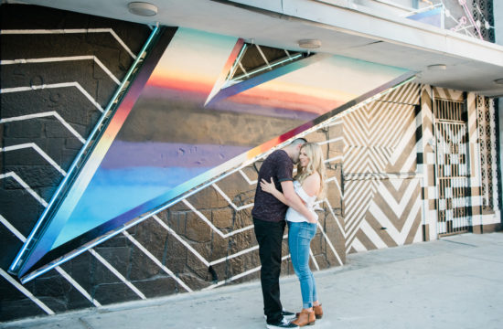 Downtown Las Vegas Engagement Session | Kristen Marie Weddings + Portraits | Las Vegas Wedding Photographer