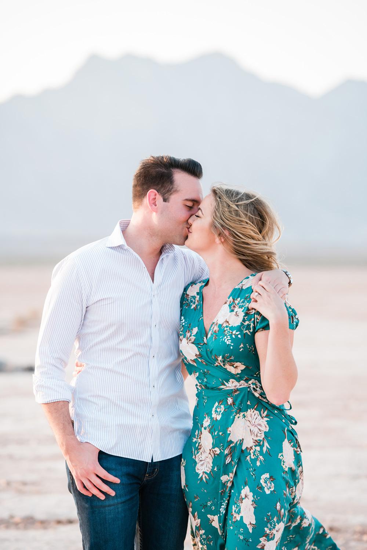 Dry Lake Bed Engagement Session | Kristen Marie Weddings + Portraits | Las Vegas Wedding Photographer