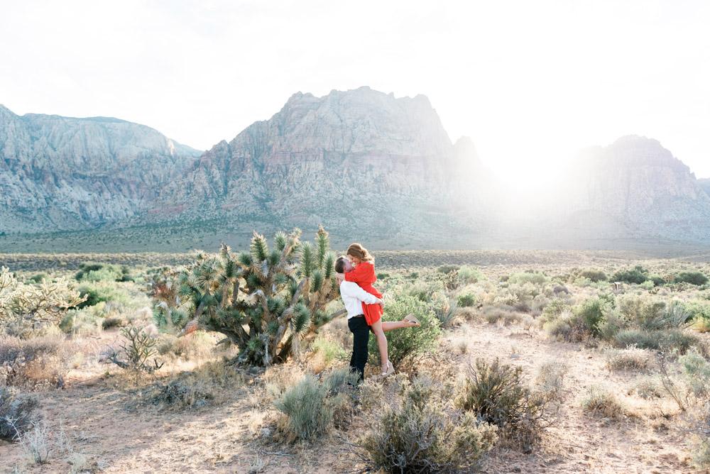 Las Vegas Desert Engagement Session | Kristen Marie Weddings + Portraits