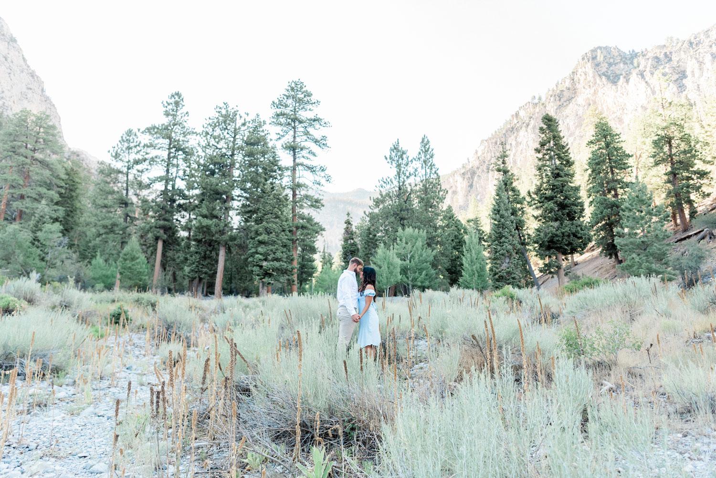 Las Vegas Mountain Engagement Session | Kristen Marie Weddings + Portraits, Las Vegas Engagement Photographer