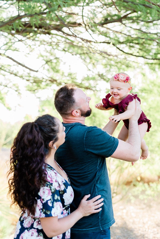 1 Year Old Cake Smash Photoshoot | Kristen Marie Weddings + Portraits, Las Vegas Family Photographer